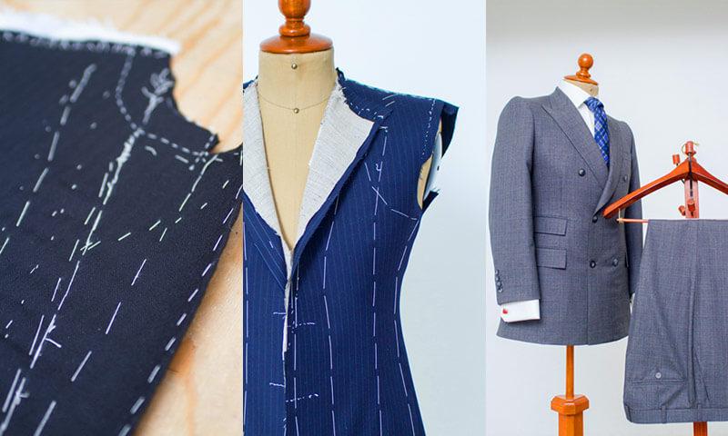 Confección de trajes del sastre Gilberto Ortiz