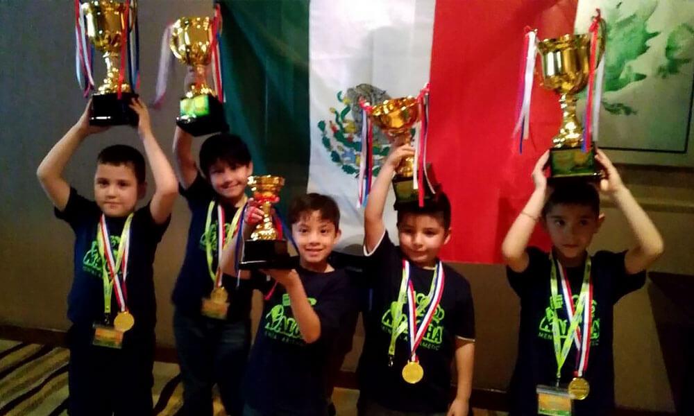 Niños Mexicanos Ganan Campeonato Internacional de Cálculo Mental