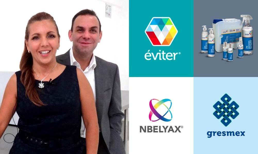 Nbelyax: Nanobiomolécula de la empresa Gresmex en productos Éviter creados por Gabriela y Sergio León Gutiérrez