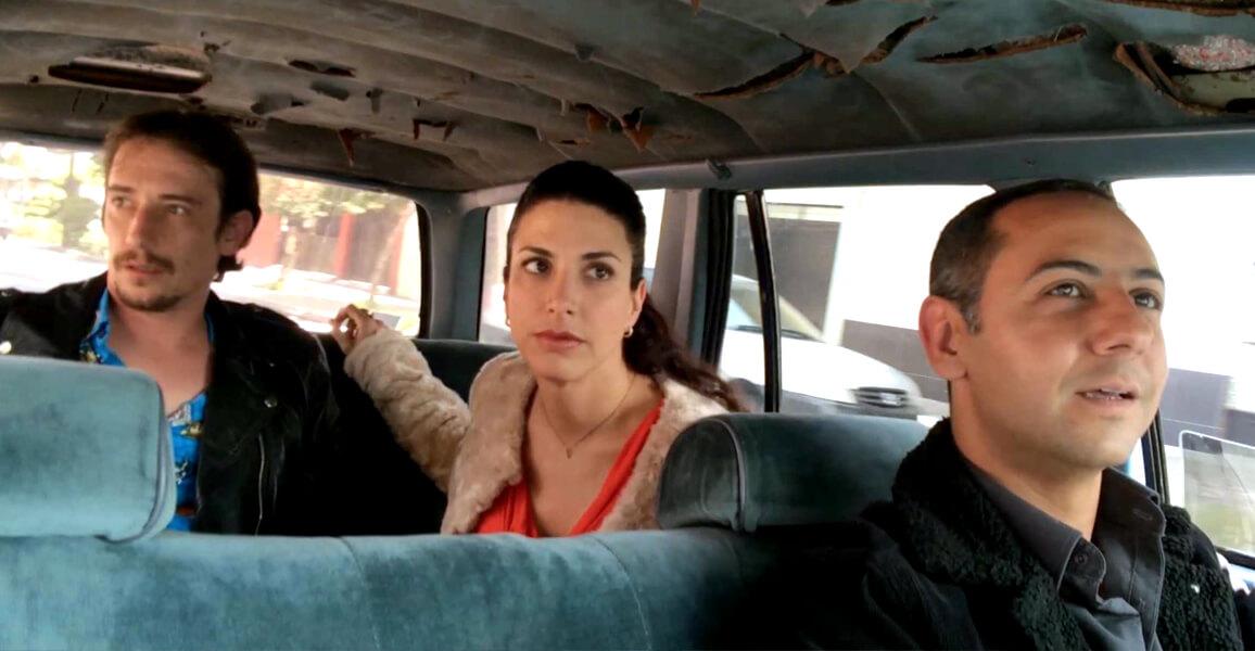 Humberto Busto, Verónica Toussaint y Cristian Magaloni en Oso Polar